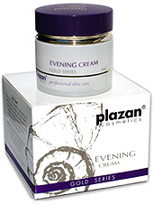 facial skin care products gold - evening cream image